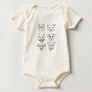 Pittie Pittie tevreden! Baby Shirt