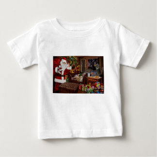 Pittige Kerstman Baby T Shirts