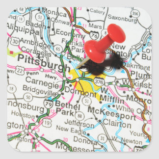 Pittsburgh, Pennsylvania Vierkante Sticker