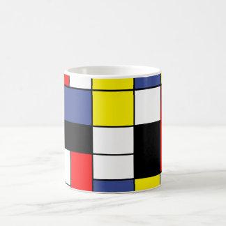 PixDezines Minimalistische Mondrian, Koffiemok