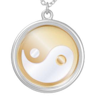 PixDezines Yin Yang, Goldtone Zilver Vergulden Ketting