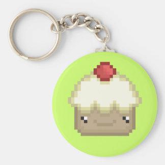 pixel cupcake keychain sleutel hangers