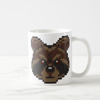 Pixel-kunst Wasbeer Koffiemok