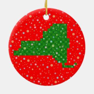 Pixel New York en de Sneeuwvlokken van de Pastelkl Ornament