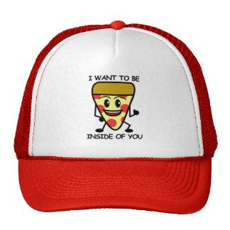 Pizza binnen u trucker petten