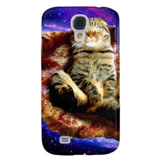pizza kat - gekke kat - katten in ruimte galaxy s4 hoesje