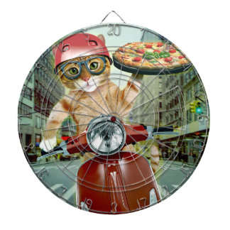 pizza kat - kat - pizzalevering dartbord