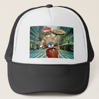 pizza kat - kat - pizzalevering trucker pet