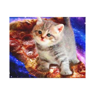 pizza kat - leuke katten - kat - katjes canvas afdruk