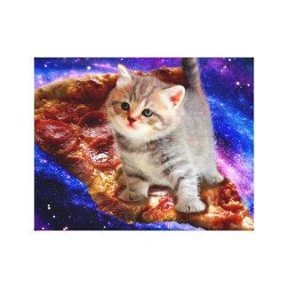 pizza kat - leuke katten - kat - katjes canvas afdrukken