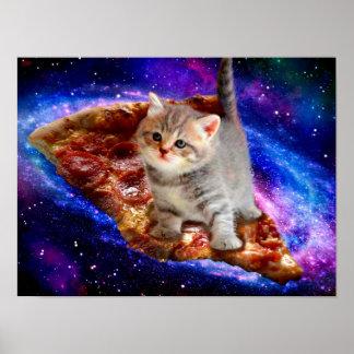 pizza kat - leuke katten - kat - katjes poster