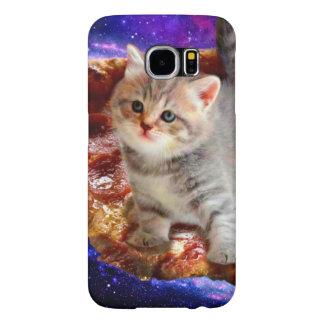 pizza kat - leuke katten - kat - katjes samsung galaxy s6  hoesje