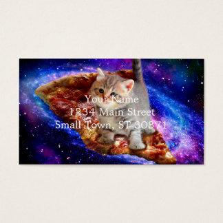 pizza kat - leuke katten - kat - katjes visitekaartjes