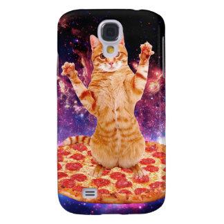 pizza kat - oranje kat - ruimtekat galaxy s4 hoesje