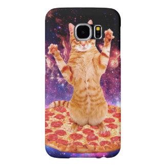 pizza kat - oranje kat - ruimtekat samsung galaxy s6  hoesje