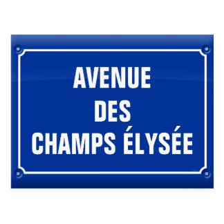 plaat laan van het Champs Elysées - FRANKRIJK Briefkaart