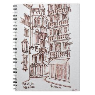 Placa DE Manises in Oude Stad | Valencia, Spanje Ringband Notitieboek