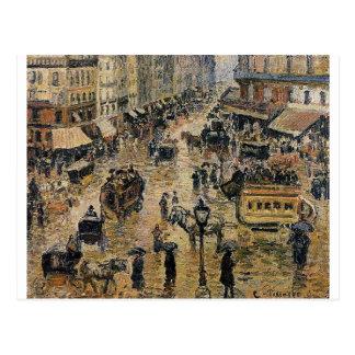 Place du Havre, Parijs door Camille Pissarro Briefkaart