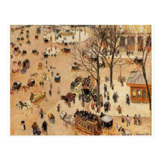 Place du Theatre Francais door Camille Pissarro Briefkaart