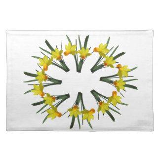 Placemat - Cirkel van Gele narcissen