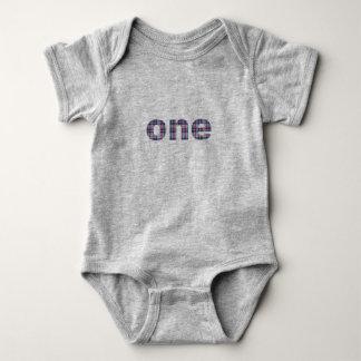 Plaid Één van de Verjaardag van de baby Eerste 12 Romper