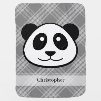 Plaid met het Gezicht van de Panda Inbakerdoek