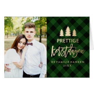 Plaid | van Groene Kerstkaart Briefkaarten 0