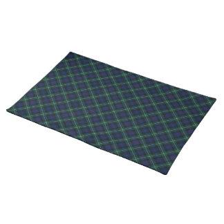 Plaid van het Geruite Schotse wollen stof van Placemat