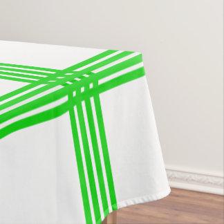 Plaid van Vier Streep van de zomer de Groene op Tafelkleed