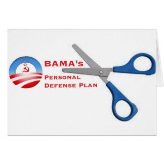 Plan van de Defensie van Obama het Persoonlijke Wenskaart