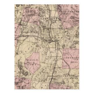 Plan van Rutland Vermont Briefkaart