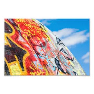 planeet graffiti foto afdruk