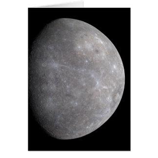 Planeet Mercury in ruimte Briefkaarten 0