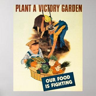 Plant een Tuin van de Overwinning - Vintage WW2 Poster