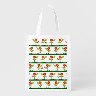 Plant en bloemen boodschappentas