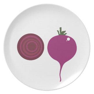Plantaardig ontwerp op wit melamine+bord
