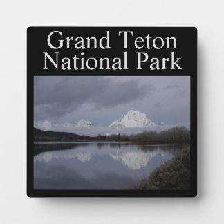 Plaque van het Park van Grand Teton de Nationale Fotoplaat