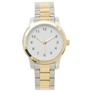 Platina-gekleurd Horloge
