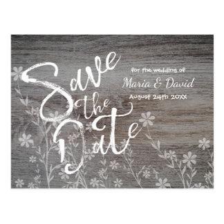 Plattelander met Bloemen | sparen de Datum Briefkaart