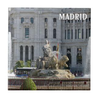 Plaza DE Cibeles, de Tegel van Madrid Tegeltje