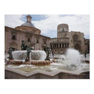 Plaza DE La Virgin en Basilica DE Virgen Briefkaart