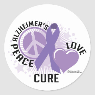 PLC van Alzheimers Ronde Sticker