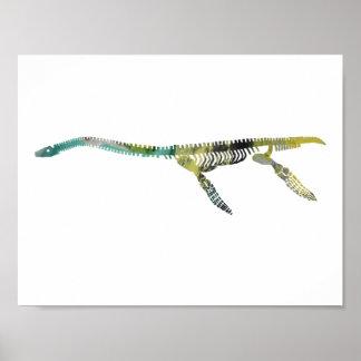 plesiosaur skelet poster