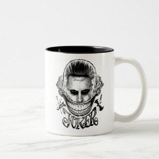 Ploeg | van de zelfmoord de Glimlach van de Joker Tweekleurige Koffiemok