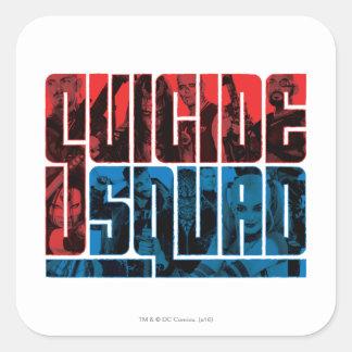 Ploeg | van de zelfmoord Rood en Blauw Logo Vierkante Sticker
