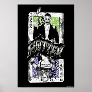Ploeg | van de zelfmoord Rotte Joker & Harley Poster