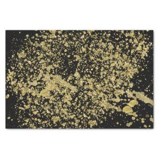 Ploeter Gedrukt Goud Faux schitteren op Zwarte Tissuepapier