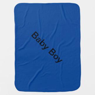 Pluizige blauwe deken inbakerdoek