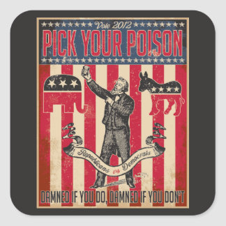 Pluk Uw Vergift Vierkante Stickers