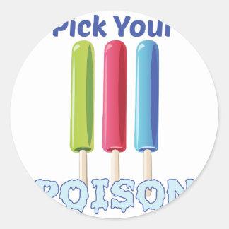Pluk Uw Vergift Ronde Stickers